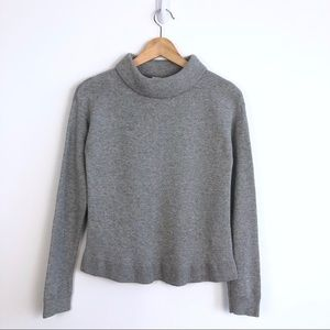 & Other Stories Gray Rolled Mock Neck  Sweater